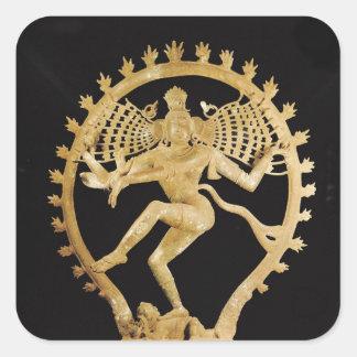 Shiva Nataraja Pegatinas Cuadradas Personalizadas