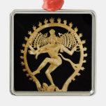 Shiva Nataraja Square Metal Christmas Ornament
