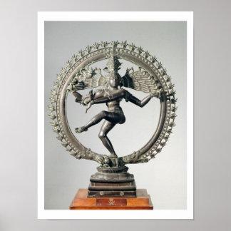 Shiva Nataraja, Tamil Nadu, último Chola (bronce) Impresiones