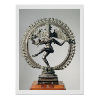 Shiva Nataraja, Tamil Nadu, último Chola (bronce) Póster