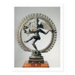 Shiva Nataraja, Tamil Nadu, último Chola (bronce) Postal