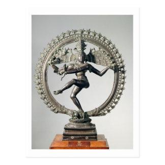 Shiva Nataraja, Tamil Nadu, último Chola (bronce) Tarjetas Postales