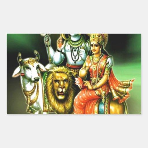 Shiva Pegatina Rectangular