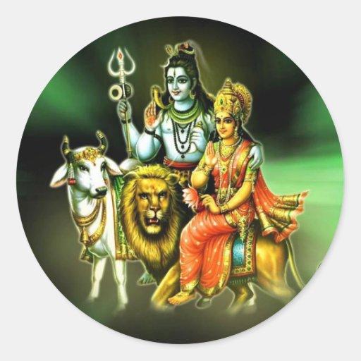 Shiva Pegatina Redonda