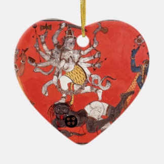Shiva Performing The Dance Of Bliss Ceramic Ornament