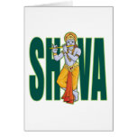 Shiva playing Flute Cards