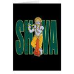Shiva playing Flute Greeting Card