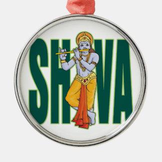 Shiva playing Flute Metal Ornament