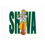 Shiva playing Flute Post Cards