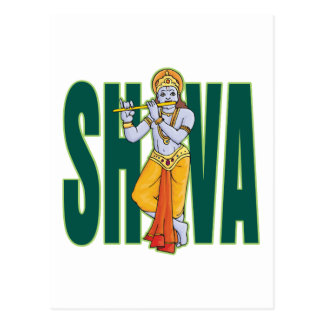 Shiva playing Flute Postcard