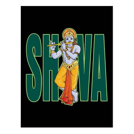 Shiva playing Flute Postcards