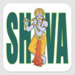 Shiva playing Flute Sticker