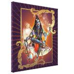 Shiva - resplandor de la puesta del sol - lona env lienzo envuelto para galerias