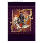 Shiva - resplandor de la puesta del sol - tarjeta,