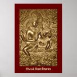 Shiva & Shakti Embrace Poster