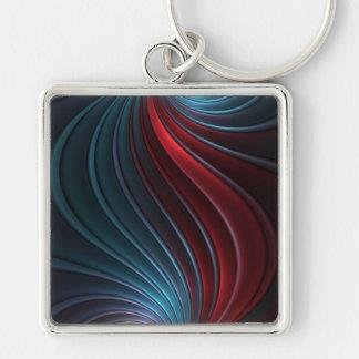Shiva Silver-Colored Square Keychain