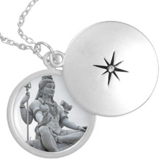 Shiva Silver Plated Necklace