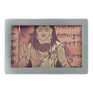 Shiva sitting dark belt buckle