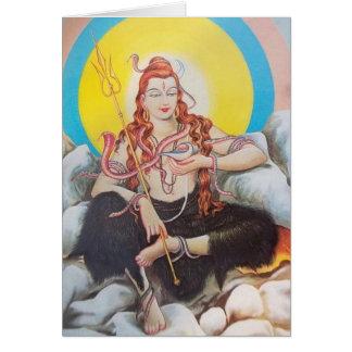 shiva tarjeta de felicitación