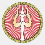 Shiva Trident Icon Classic Round Sticker