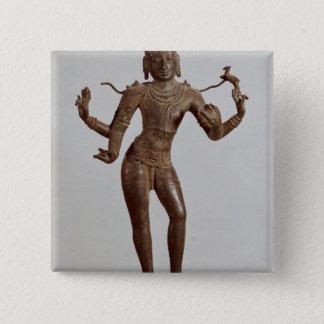 Shiva Vinadhara Dakshina-Murti, Dravidian Pinback Button