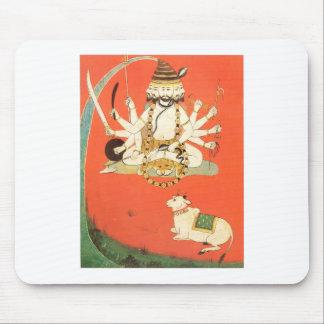 Shiva with his sacred bull Nandi Mouse Pad