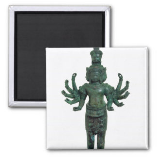 Shiva with many arms and heads, Angkor Magnets