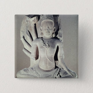 Shiva with ten arms, from Thap Banh It Temple, Button