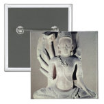 Shiva with ten arms, from Thap Banh It Temple, 2 Inch Square Button