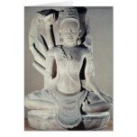 Shiva with ten arms, from Thap Banh It Temple, Greeting Card