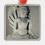 Shiva with ten arms, from Thap Banh It Temple, Square Metal Christmas Ornament
