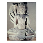 Shiva with ten arms, from Thap Banh It Temple, Postcard