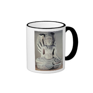 Shiva with ten arms, from Thap Banh It Temple, Ringer Coffee Mug