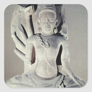 Shiva with ten arms, from Thap Banh It Temple, Square Sticker