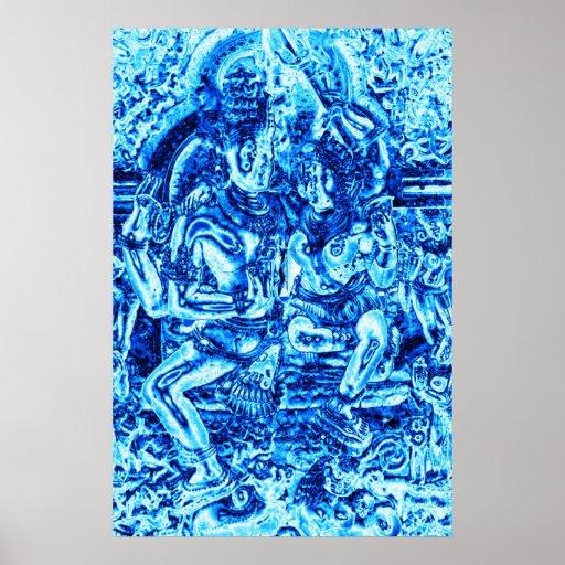 Shiva y abrazo de Shakti Impresiones