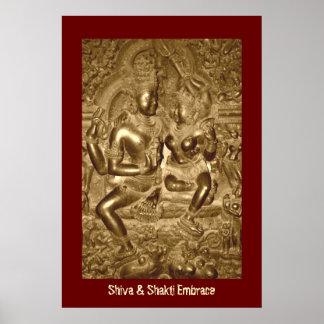 Shiva y abrazo de Shakti Poster