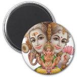 Shiva y familia iman de frigorífico