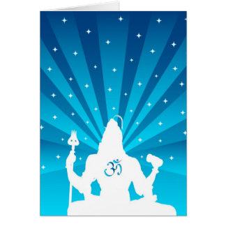 Shiva y OM - dios indio Tarjeta De Felicitación