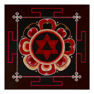 Shiva Yantra by June Moon Poster