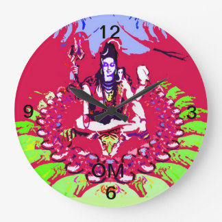 SHIVA YOGA COLORFUL WALL CLOCK OM
