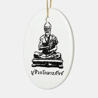 Shivago Komarpaj Buddha of Thai Massage Ceramic Ornament