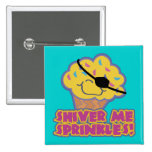 Shiver Me Sprinkles Pirate Cupcake 2 Inch Square Button