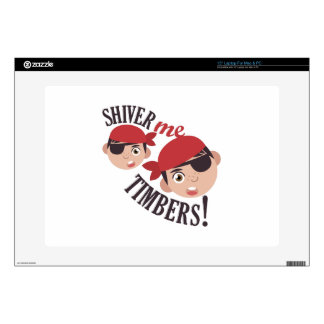 Shiver Me Timbers Decals For Laptops