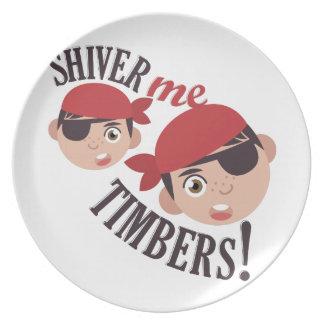 Shiver Me Timbers Melamine Plate