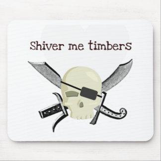 SHIVER ME TIMBERS PIRATE PRINT MOUSE PAD