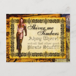 Shiver Me Timbers Postcard