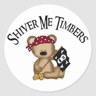 Shiver Me Timbers Round Sticker
