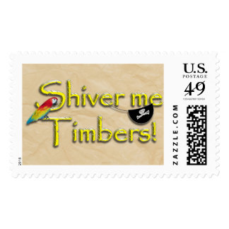 SHIVER ME TIMBERS! Text Design w/Parrot Stamps