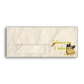 SHIVER ME TIMBERS! - Text w/Pirate Chest Envelopes