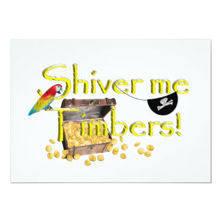SHIVER ME TIMBERS! - Text w/Pirate Chest Invites
